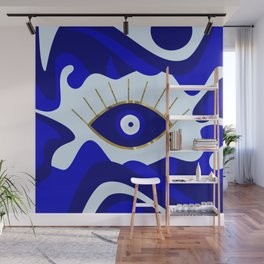 Lava All Seeing Evil Eye Wall Mural