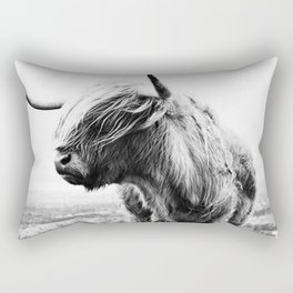 Highland Cow Art Rectangular Pillow