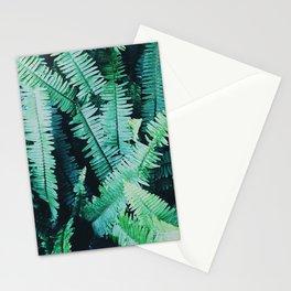 Botanic jungle leaf pattern Stationery Cards