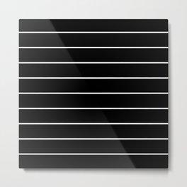SKINNY STRIPE ((white on black)) Metal Print