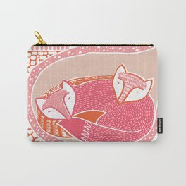 Sleepy Happy Foxes Carry-All Pouch