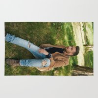 liam payne Area & Throw Rugs featuring Liam Payne by behindthenoise