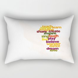 Words to Live By Rectangular Pillow