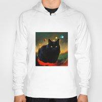black cat Hoodies featuring black cat by ururuty
