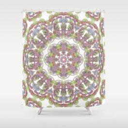 doodle kaleidoscope Shower Curtain