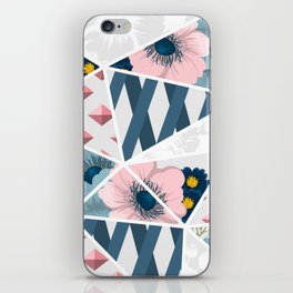 Retro Floral Pattern With Geometric Elements iPhone Skin