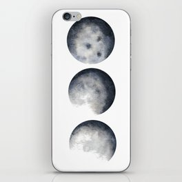 Phases of the Moon Watercolor iPhone Skin