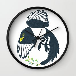 Yellow-billed Magpie Wall Clock