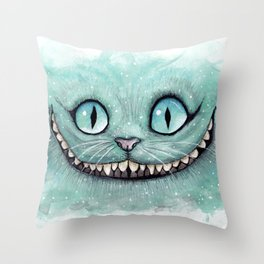 Cheshire Cat - Drawing - Dibujados Throw Pillow