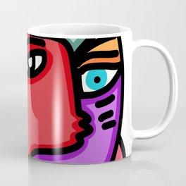 Metamorphosis Street Art Joyful Portrait Multicolor  Coffee Mug
