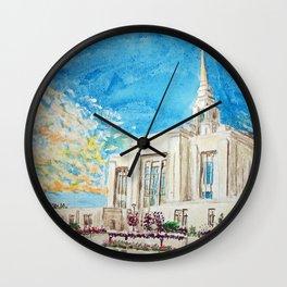 Ogden Utah LDS Temple Wall Clock