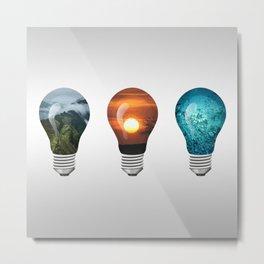 The Light Bulb Elements Metal Print
