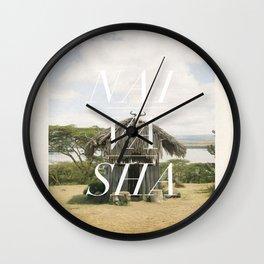 Safari land - Naivasha Wall Clock