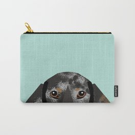 Doxie Dachshund merle dapple dog cute must have dog accessories dog gifts cute doxies dachshunds des Carry-All Pouch