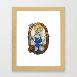Zombie Cinderella Framed Art Print