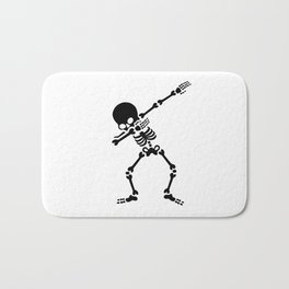 Dabbing skeleton (Dab) Bath Mat