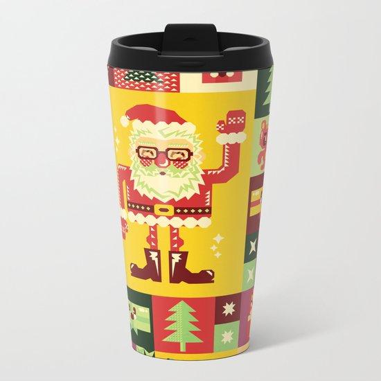 Christmas Geometric Pattern No. 1 Metal Travel Mug