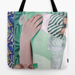 Wanda Goes on Vacation - green modern collage Tote Bag