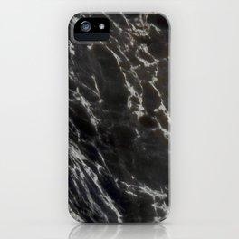 MIDNIGHT BLACK MARBLE iPhone Case
