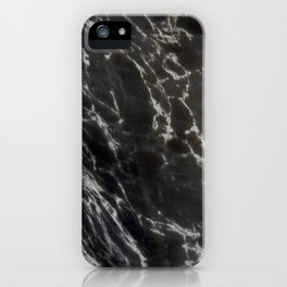 MIDNIGHT BLACK MARBLE iPhone Case