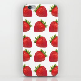Red Strawberries iPhone Skin