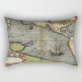 medieval travel map Rectangular Pillow