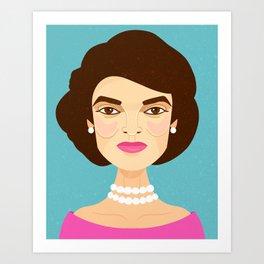 Jackie Onassis Art Print