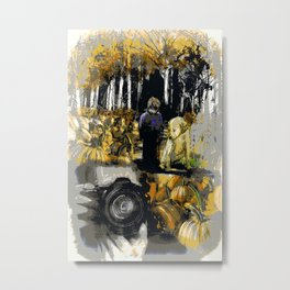 The Black and White Reproduction Metal Print