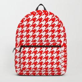 Scarlet Houndstooth Backpack