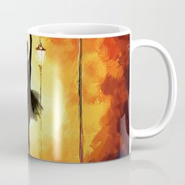 Dancing Silhouette - Yellow Coffee Mug