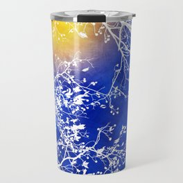 Blue Tree Abstract Travel Mug