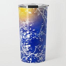 Blue Tree Abstract Travel Mug