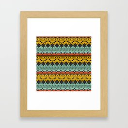 Colorful Aztec pattern. Framed Art Print