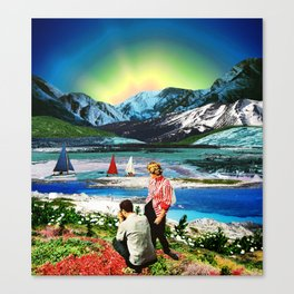 Picture of a blue sunset Canvas Print