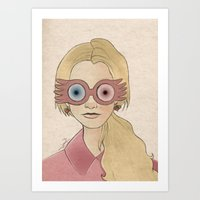 luna lovegood Art Prints featuring Luna Lovegood by Joan Pons