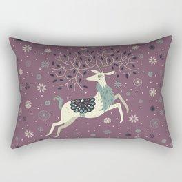 Prancing Reindeer Rectangular Pillow
