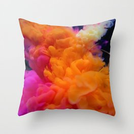 Colors Explosion Throw Pillow