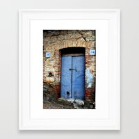 door Framed Art Prints featuring door by  Agostino Lo Coco