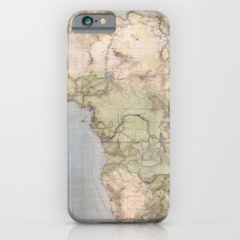 1885 Vintage Map of Africa iPhone Case