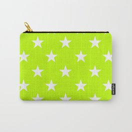 Stars (White/Lime) Carry-All Pouch