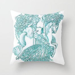 Starry Pin up 'January' Throw Pillow