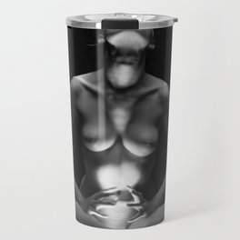 2687-MAK Spiritual Nude Woman Erotic Black & White Bare Breasted Naked Girl Travel Mug