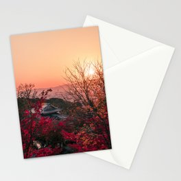 Magical sunset in Kyoto Stationery Cards