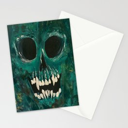 Skull Canvas Stationery Cards