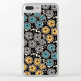 Mid Century Modern Flower Bouquet Pattern 945 Clear iPhone Case