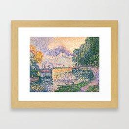 "Paul Signac ""The Tugboat, Canal in Samois"" Framed Art Print"