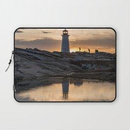 Peggys Point sunset walk Laptop Sleeve
