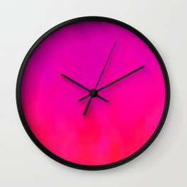 Fuchsia Fire Magenta Violet Ombre Wall Clock