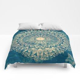 BLUE ORGANIC MANDALA Comforters
