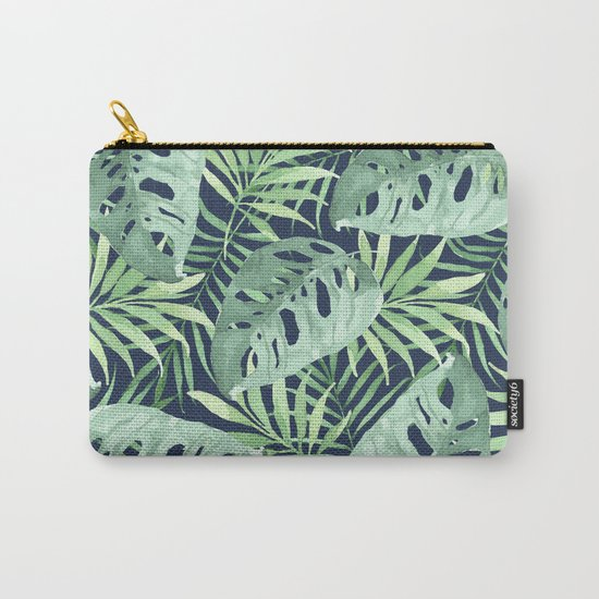 Tropical Branches on Dark Pattern 03 Carry-All Pouch